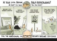 Cartoon by David Pope  Source: David Pope, published in in The Canberra Times on 20 August 2015