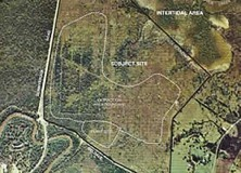 Aerial of proposed sand mine site used as evidence in the trial