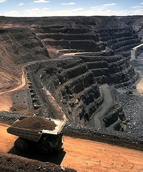 A large open-cut coal mine in Queensland (not the Wandoan Coal Mine)