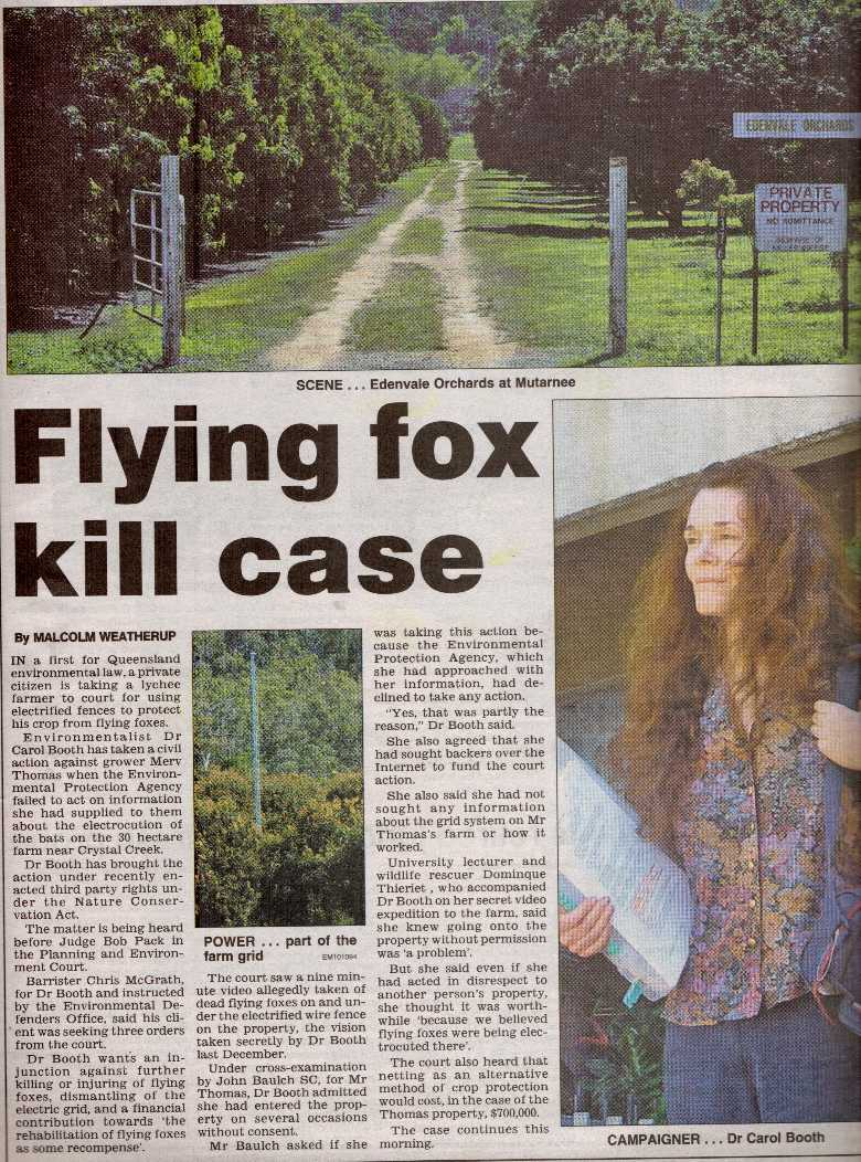 Story from Townsville Bulletin (6 September 2005)