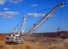 Isaac Plains Coal Mine dragline (ca 2013).  Picture: Isaac Plains Coal