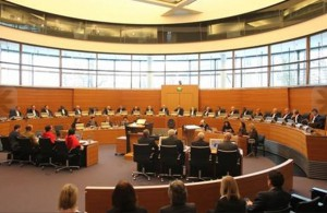 Hearing before a 22-member panel of judges in the International Tribunal for the Law of the Sea, Hamburg, Germany